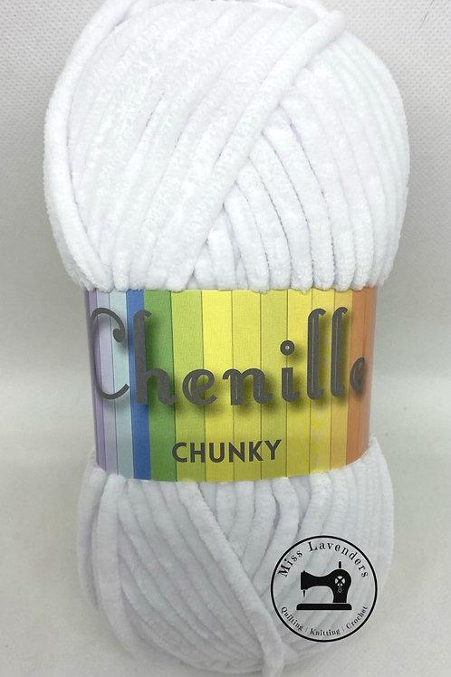 Cygnet Chenille Chunky- White