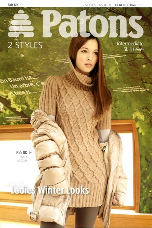 Patons 3876 - Women's Sweater and Cardigan in DK