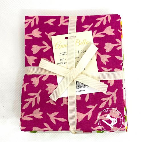 Oh Happy Day - Anna Bella Cotton Fat Quarters  - 5 Pack