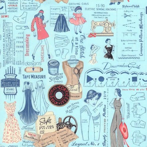 Sew Vintage Layout Fabric