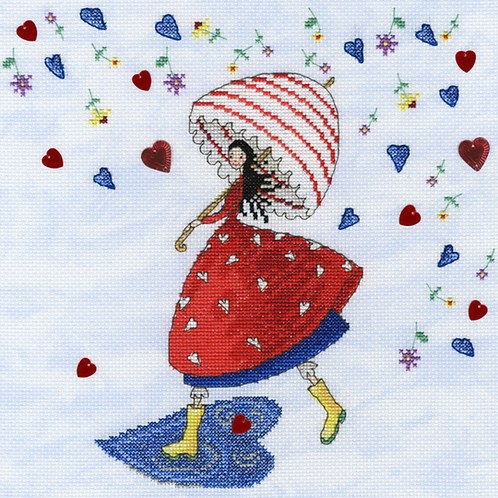 Bothy Threads Flower Rain -  Cross Stitch Kit
