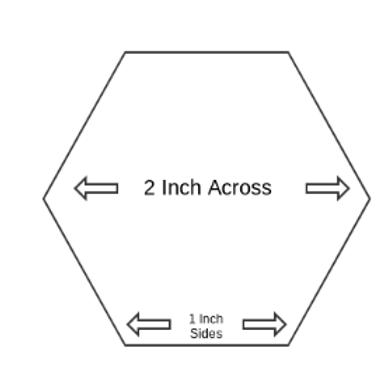 "1"" Paper Piecing Hexagons - Quantity 100"