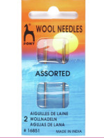 Pony Wool Needles - for sewing Knitted garments - Pack of 2