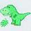 Thumbnail: Counted Cross Stitch Mini Kit - Dinosour