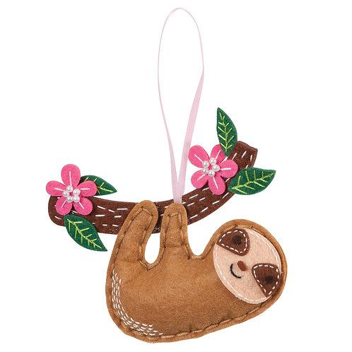 Sloth Felt Kit Decoration