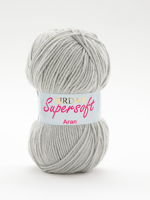 Sirdar Supersoft Aran Silver Grey 821
