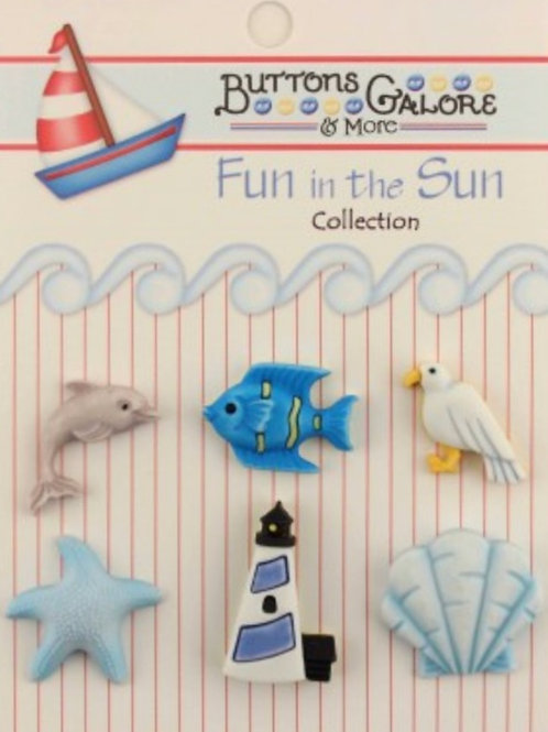 Buttons Galore - By The Sea FN108 - Childrens/Craft Button