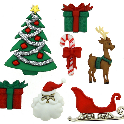 Dress it up Buttons - Christmas Eve 2464 - Childrens/Craft Buttons