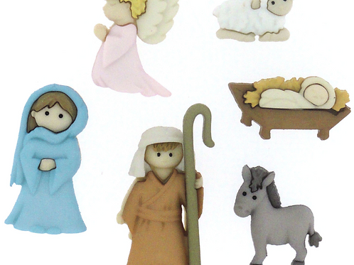 Dress it up Buttons - Nativity 7473 - Childrens/Craft