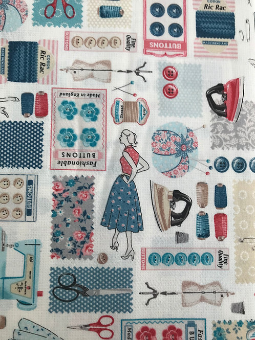 Makower Stitch in time - Montage Fabric