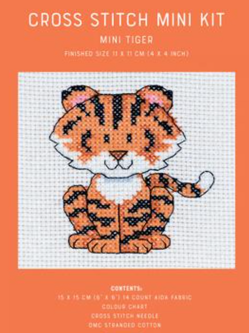 Counted Cross Stitch Mini Kit - Mini Tiger