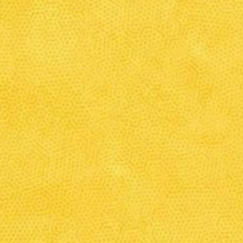 Makower Dimples Nugget Yellow Fabric