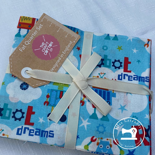 Craft Cotton Co - Robot Dreams Cotton Fat Quarters - 5 Pack