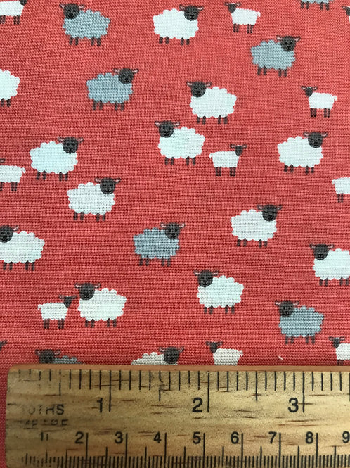 Makower Spring - Sheep Pink Fabric