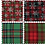 Thumbnail: Fat Quarter Bundle: Printed Christmas Tartan: 4 Pieces: Greens