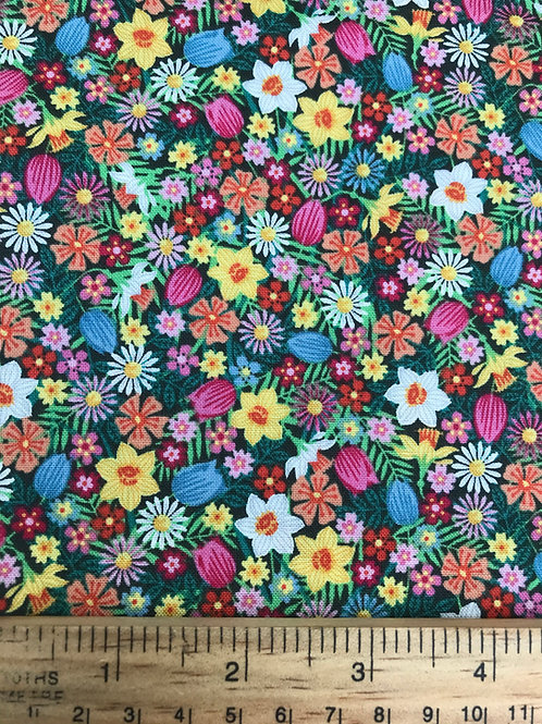Makower Spring Flowers - Theme Fabric