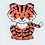 Counted Cross Stitch Mini Kit - Mini Tiger close up