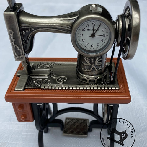 Sewing Machine Miniature Clock - Sewing Table