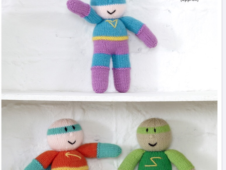 Free Super Hero Knitting Pattern