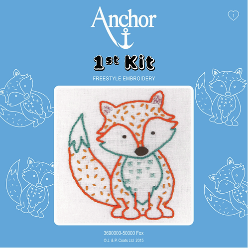 Anchor 1st Kit Embroidery - Fox