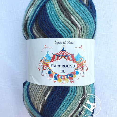 James C Brett Fairground Double Knit DK 100g - Blue/Greys G9