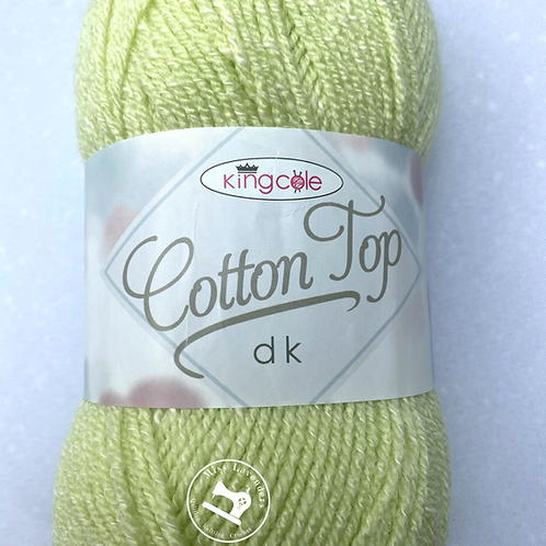 King Cole Cotton Top Double Knit DK 100g - Avocado Green 4222
