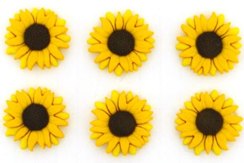Dress it up Buttons - Sunflower  9374 Childrens/Craft