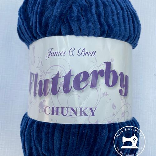 James C Brett - Flutterby Chunky 100g - B32 Navy Blue