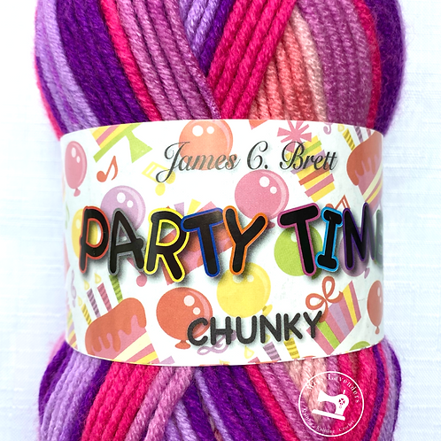 James C Brett Party Time Chunky - Pinks/Lilacs - PT3