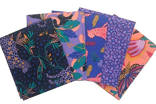 Tropical Leopard Cotton Fat Quarters - Pack of 5