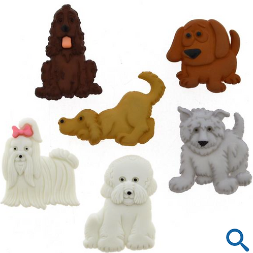 Dress it up Buttons - Puppy Parade 4674 - Childrens/Craft/Fun
