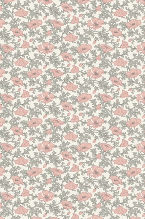 Liberty Winterbourne House - Nina Poppy Fabric - Peach 04775741/B