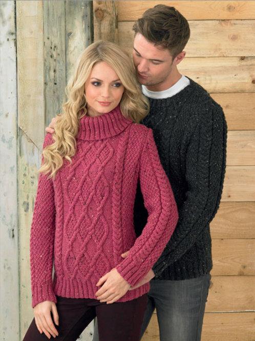 James C Brett Ladies Rustic Sweater JB211