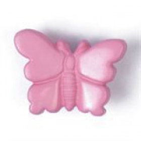 Pink Butterfly 18mm Shank Button