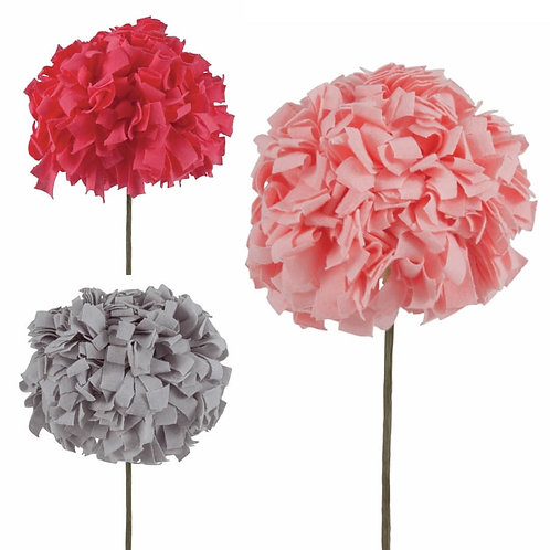 Jersey Flower Kit - Assorted colours Coral Pink, Grey, Peach