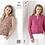 Thumbnail: King Cole Ladies Cardigan & Summer Top - 4PLY - Knitting Pattern - 5402