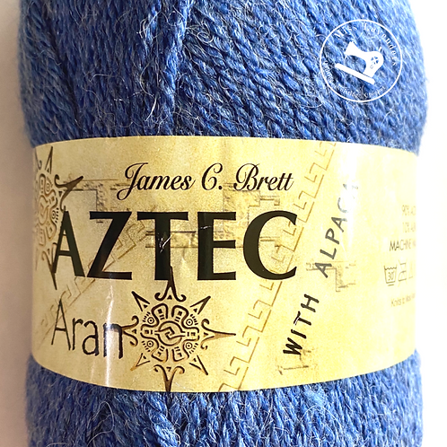 James C Brett Aztec Aran with Alpaca Blue AL16