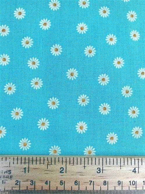 Makower Spring Daisy - Turquoise Fabric