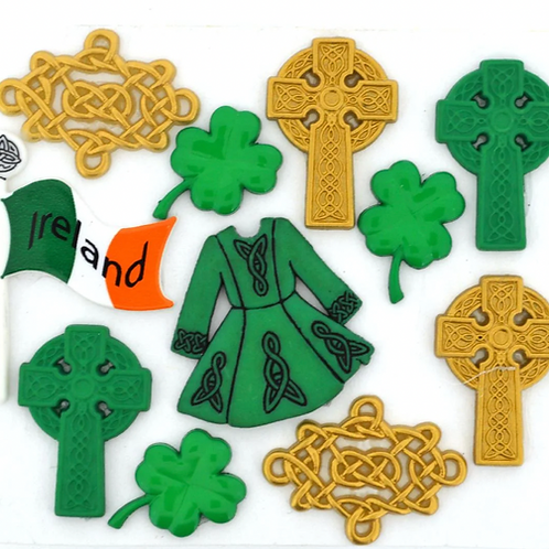 Dress It Up Buttons - Celtic Creations  3521 -  Childrens/Craft