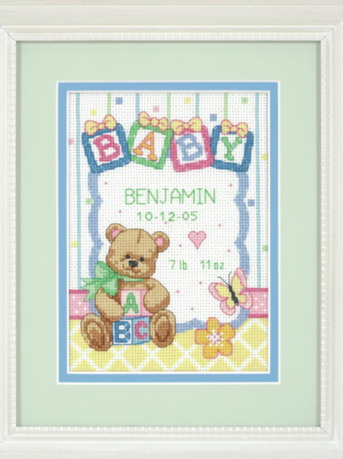 Dimensions Counted Cross Stitch Birth Record - 73049