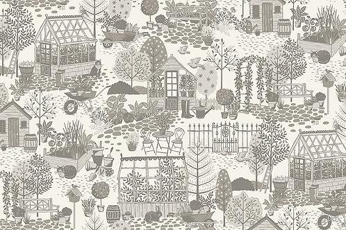 Makower Claras Garden Scene 2260/S