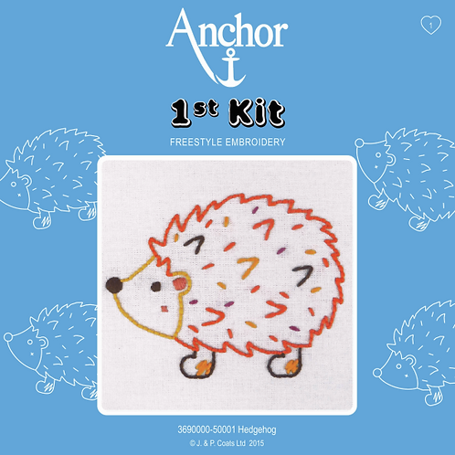Anchor 1st Kit Embroidery - Hedgehog