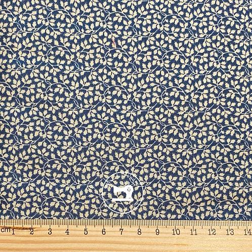 Andover Fabrics - Nanas  Flower Garden Beatrice Navy