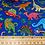 Thumbnail: Dinosaur Print Blue Fabric - 100% Cotton