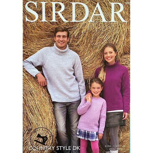 Sirdar Childrens and Adults Sweaters - Double Knit -7825
