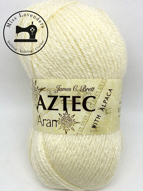 James C Brett Aztec Aran with Alpaca - Cream AL02