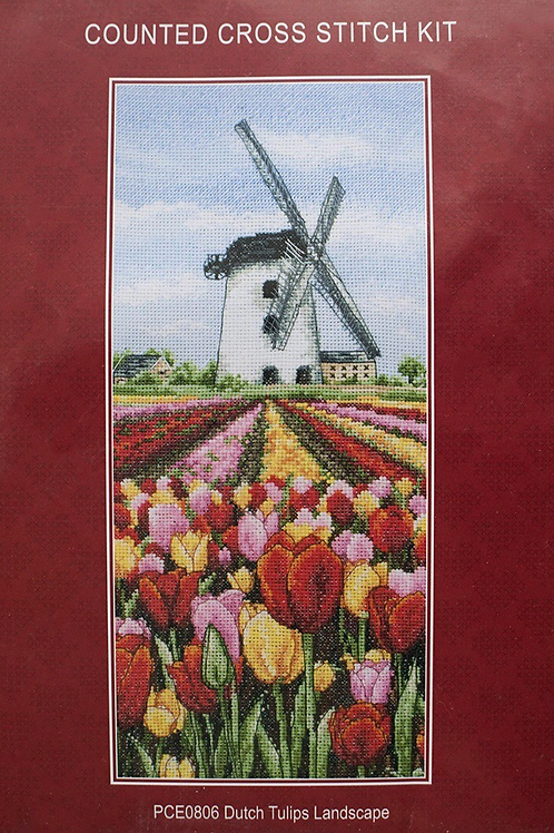 Anchor Dutch Tulips Landscape Cross Stitch Kit