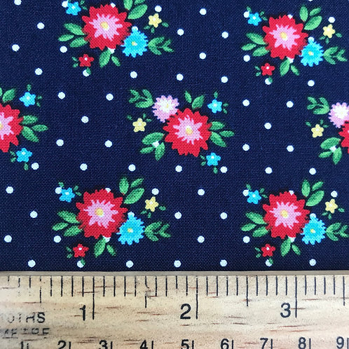 Riley Blake Simple Goodness - Navy Blue Floral