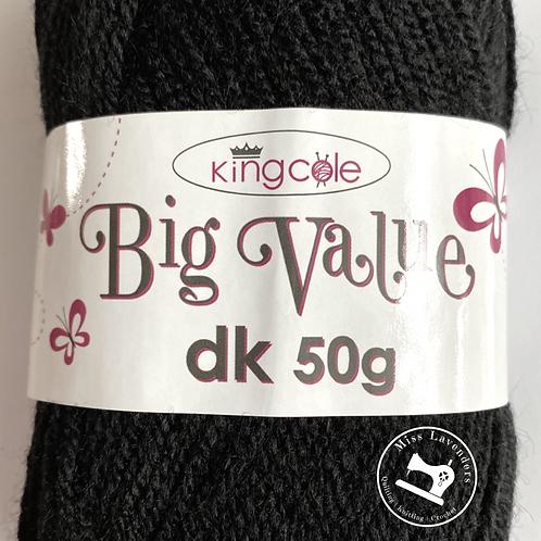 King Cole Big Value Double Knit DK 50g - Black 4053