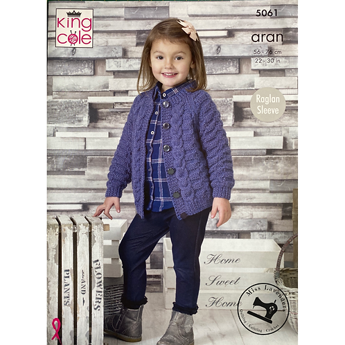 King Cole Childrens - Aran Cardigan and Sweater - 5061